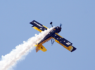 Catwalk Aerobatic aircraft performing at Yelahanka