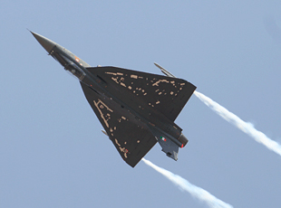 LCA Tejas in flight